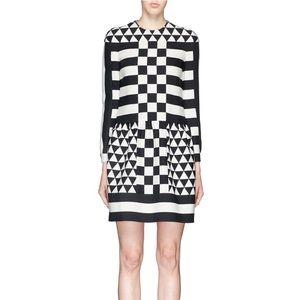 NWT Valentino 5k Checkerboard dress 40